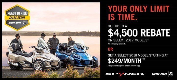 Can-Am Spyder - READY TO RIDE SALES EVENT